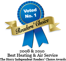 2008 and 2010 Best Heating & Air Service: The Horry Independent Readers' Choice Awards